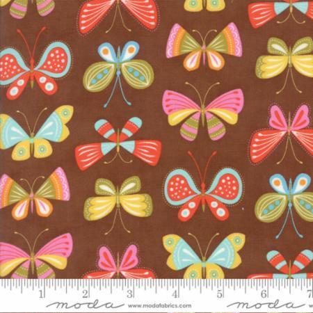 Moda Wing Leaf Chestnut 10062 19 Yardage