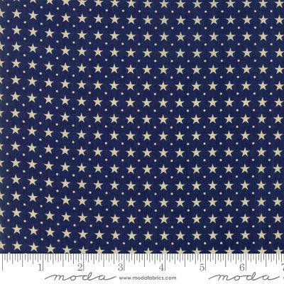 Moda Star Stripe Gatherings Blue 1267 17 Yardage