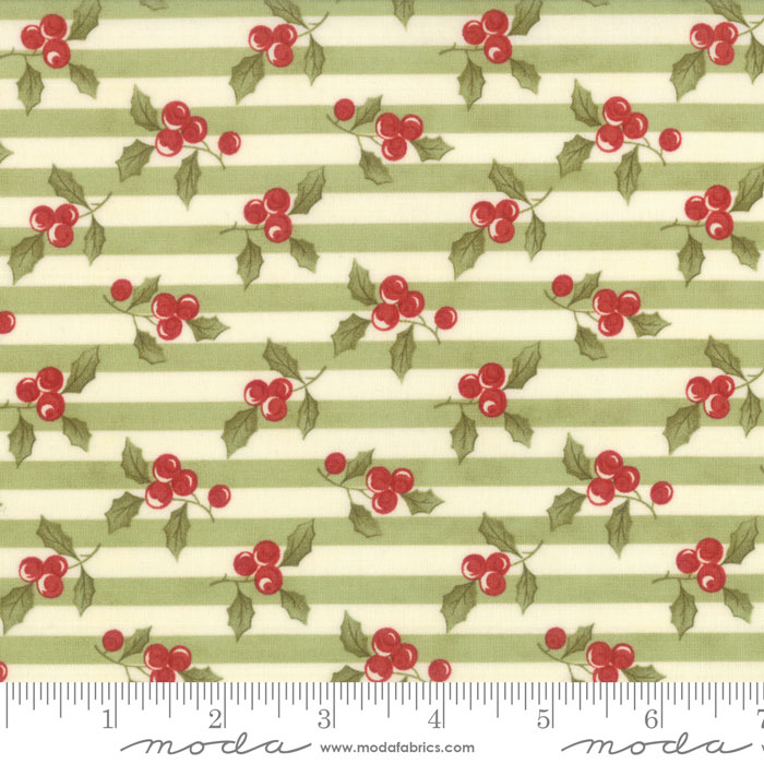 Moda Snowfall Prints Garland Green 14831 13 Yardage