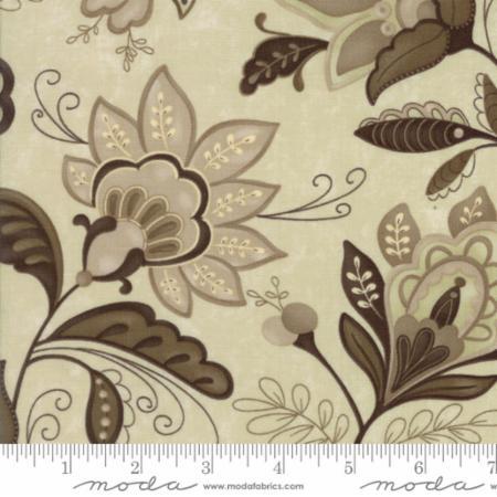 Moda Plush Elegant Jacobean Stone 17891 15 Yardage