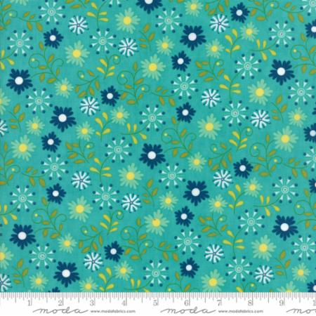 Moda Well Said Peacock 17961 11 Yardage