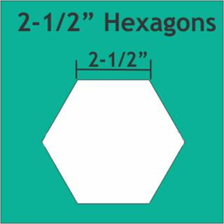 "Paper Pieces Hexagon 2 1/2"""