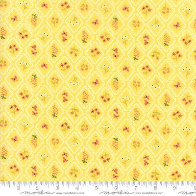 Moda Home Sweet Home Yellow 20576 18 Yardage