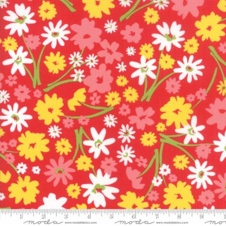 Moda Mamas Cottage Apple Red 24050 23 Yardage