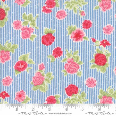 Moda Cottontail Cottage Bluebell Blue 2920 14 Yardage