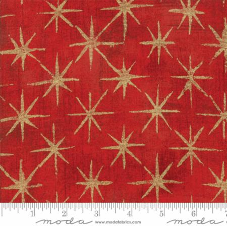 Moda Grunge Seeing Stars Cherry 30148 23M Metallic Yardage