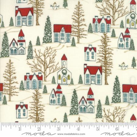 Moda Winter Village White Paper 30551 11 Yardage