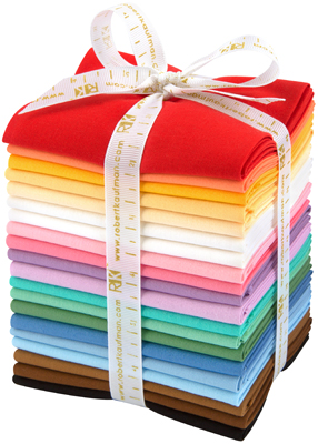 Robert Kaufman Fat Quarter Bundle - Kona Cotton 30's Palette by Darlene Zimmerman