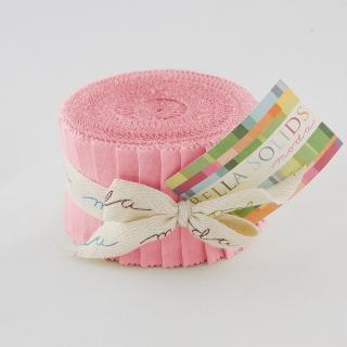 Moda Bella Solids Junior Jelly Roll - 30's Pink 9900 27