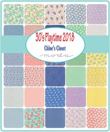 Moda Fat Eighth Bundle - 30s Playtime 2018 by Chloe's Closet