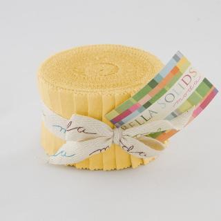 Moda Bella Solids Junior Jelly Roll - 30's Yellow 9900 23
