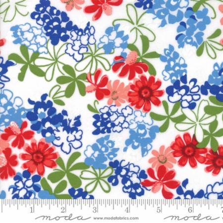 Moda Bluebonnet Patch Ivory 33312 11 Yardage