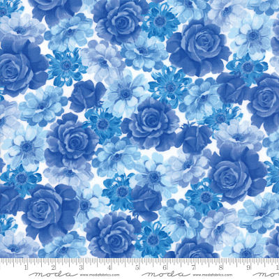 Moda Summer Breeze VI Blue 33371 11 Yardage