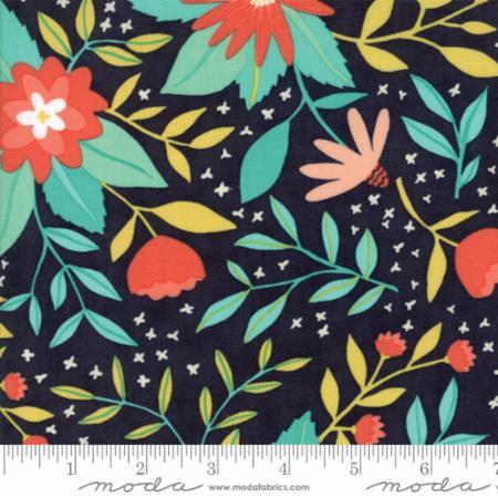 Moda Midnight Garden Midnight 36020 17 Yardage