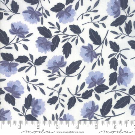 Moda Twilight White Peony Cloud Midnight 36031 22 Yardage