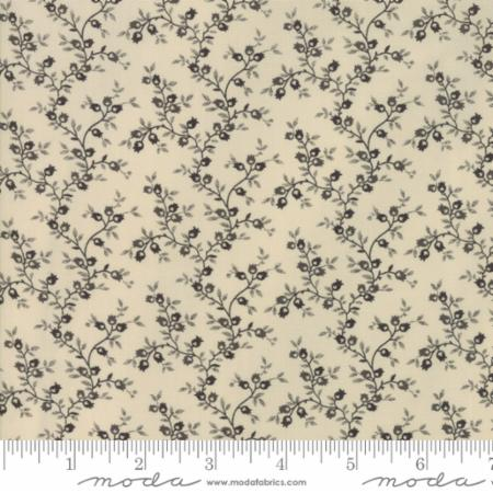 Moda Jo's Shirtings Latte Charcoal 38044 21 Yardage