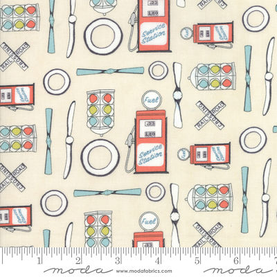 Moda Mighty Machines Creamy 49020 11B Brushed Yardage