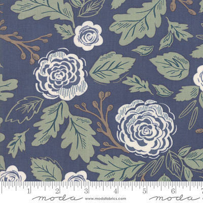 Moda Harvest Road Indigo 5100 16 Yardage