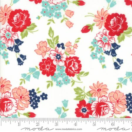 Moda Smitten Bouquet Cream 55171 17 Yardage
