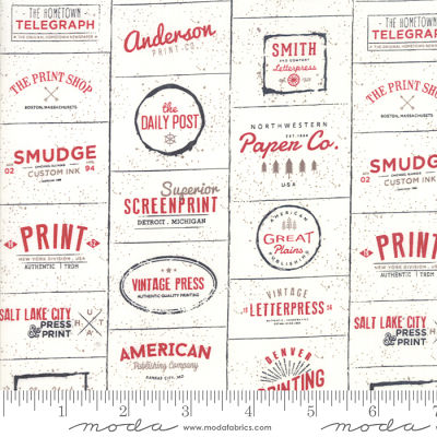 Moda The Print Shop Cream Red 5740 13 Yardage