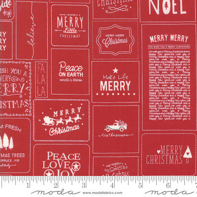 Moda The Christmas Card Red 5770 21 Yardage
