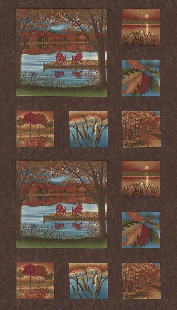 Moda Autumn Reflections Brown 6710 18 Panel Yardage