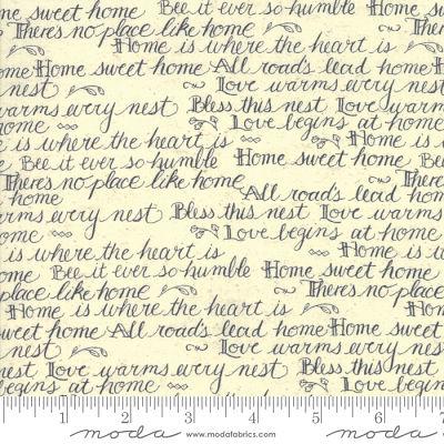 Moda Home Script Cream 7011 13 Yardage