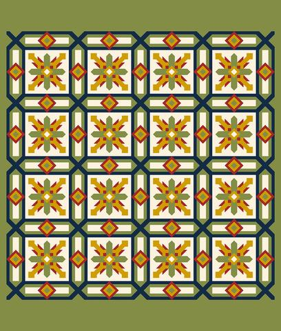 Printed Quilt Kit Panel - Cypress APPLE