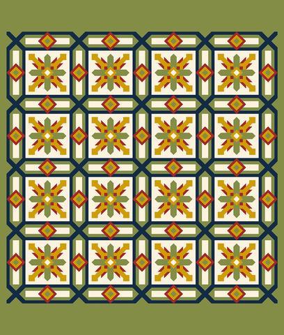 Printed Quilt Kit Panel - Cypress APPLE