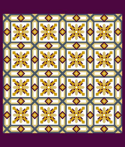 Printed Quilt Kit Panel - Cypress HONEY