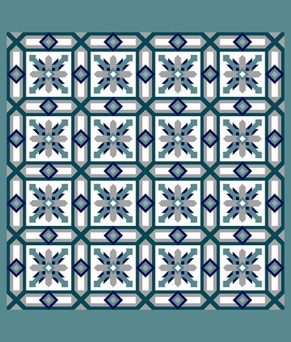 Printed Quilt Kit Panel - Cypress ICE