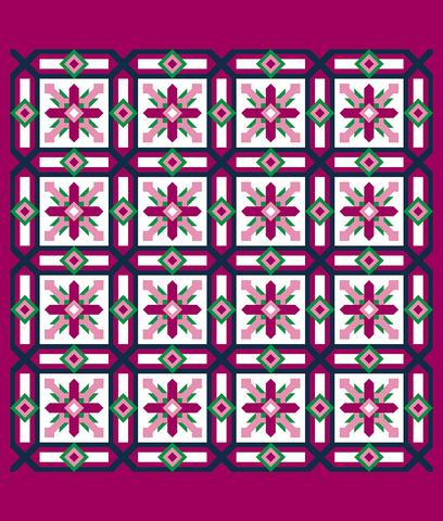 Printed Quilt Kit Panel - Cypress STRAWBERRY