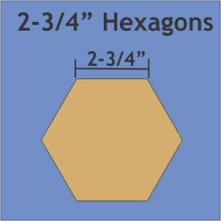 "Paper Pieces Hexagon 2 3/4"""
