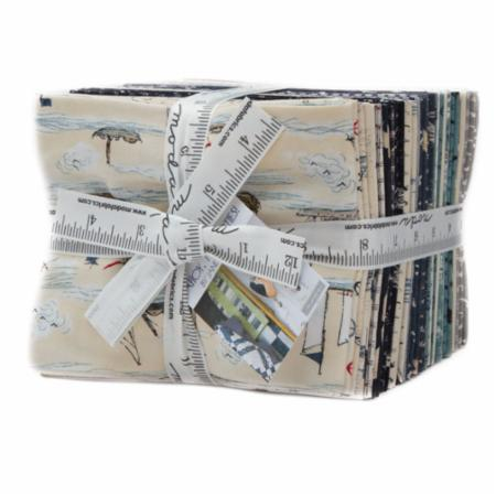 Moda Fat Quarter Bundle - Ahoy Me Hearties by Janet Clare