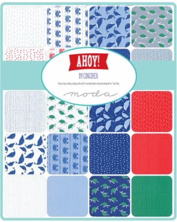 Moda Fat Quarter Bundle - Ahoy by Gingiber