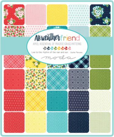 Moda Fat Eighth Bundle - All Weather Friend by April Rosenthal