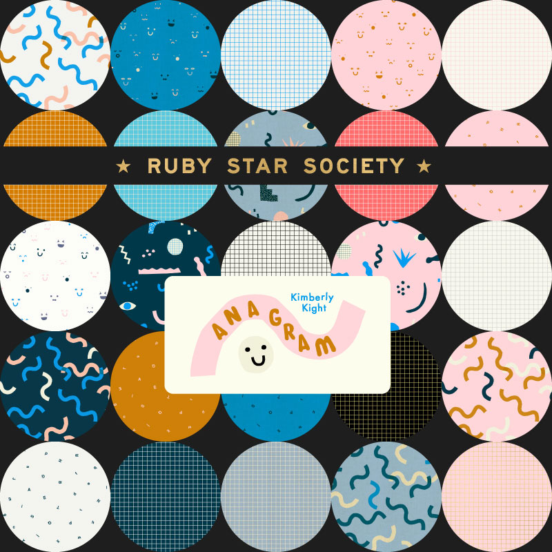 July/19 - Ruby Star Society ANAGRAM Junior Cake by Kimberly Kight