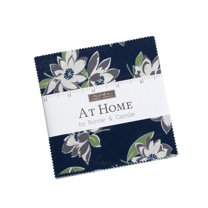 Moda Charm Pack - At Home BLUE by Bonnie & Camille