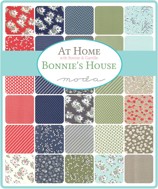 Moda Fat Quarter Bundle - At Home RED by Bonnie & Camille