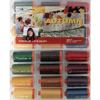 Autumn 50wt Aurifil 12 Large Spools