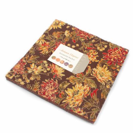 Moda Layer Cake - Autumn Elegance Metallics by Sentimental Studios