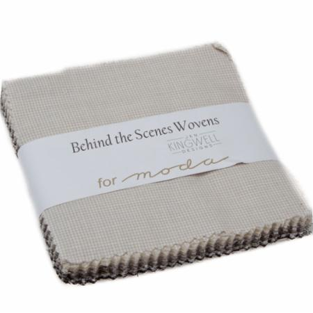 Moda Charm Pack - Behind The Scenes WOVENS by Jen Kingwell
