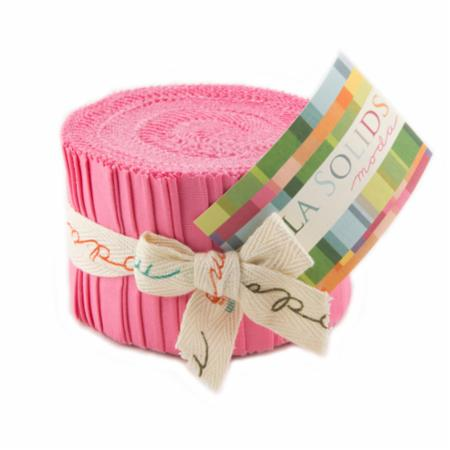 Solids Junior Jelly Roll - 30s Pink 9900 27