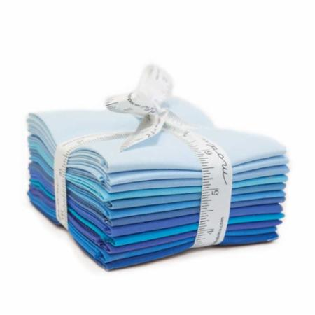 Moda Fat Quarter Bundle - Bella Solids Blues