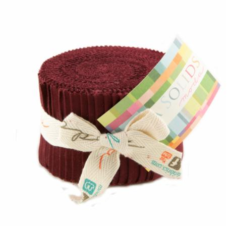 Solids Junior Jelly Roll - Burgundy 9900 18
