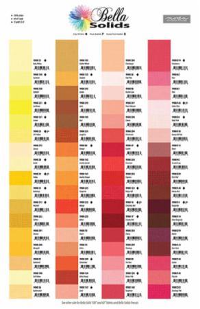 Bella Solids Color Card