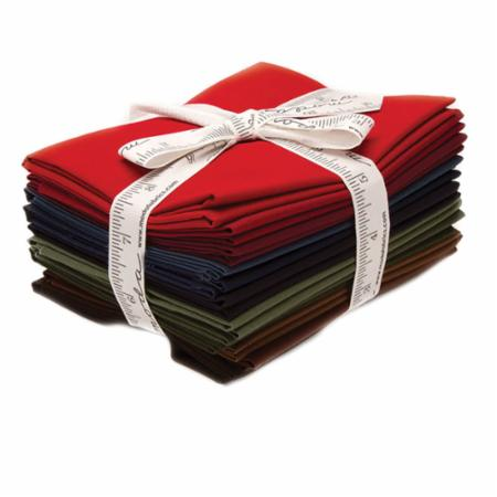 Moda Fat Quarter Bundle - Bella Solids Darks