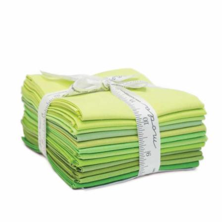 Moda Fat Quarter Bundle - Bella Solids Greens