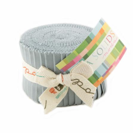 Solids Junior Jelly Roll - Silver 9900 183