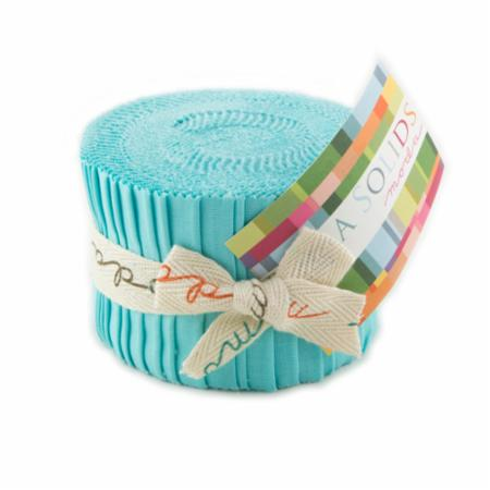 Solids Junior Jelly Roll - Robins Egg 9900 85
